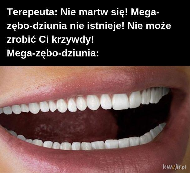 Mega-zębo-dziunia ma mega dużo zębów
