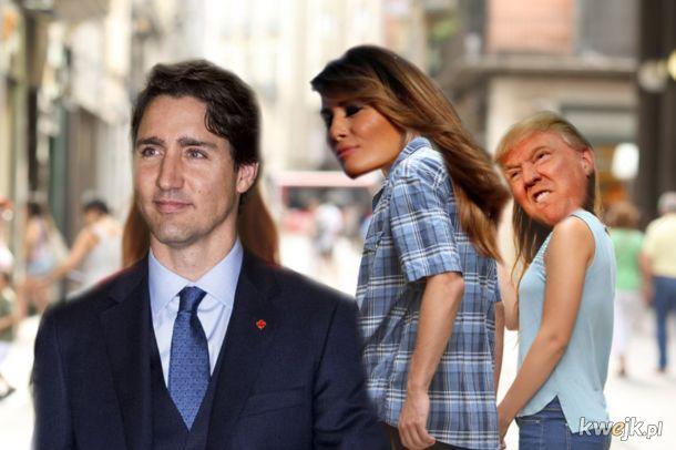 To spojrzenie Melanii na Justina