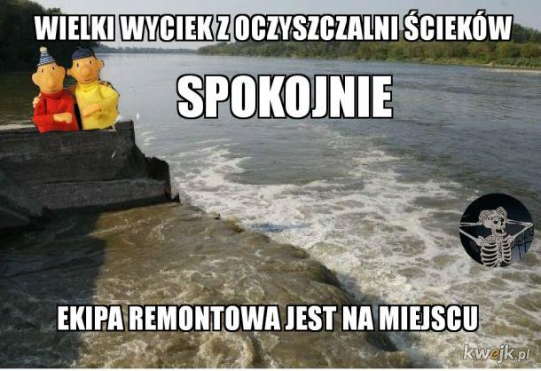 Awaria oczyszczalni Warszawa
