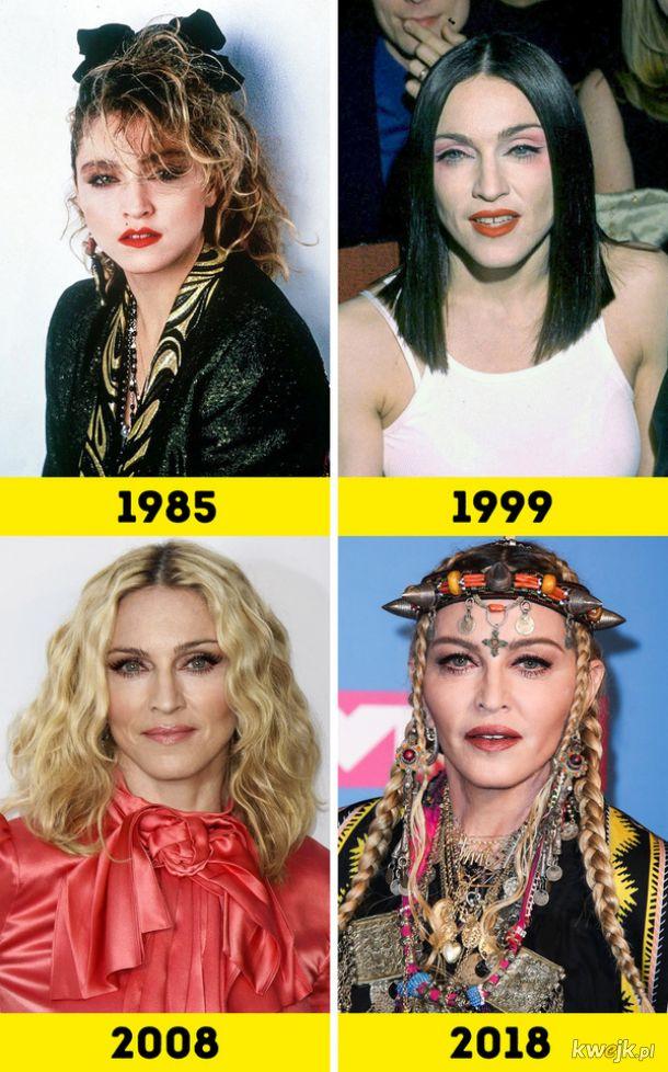 Jak zmieniało się 15 kultowych piosenkarek na przestrzeni lat