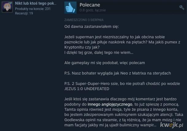 Zabawna recenzja gry superbohaterskiej