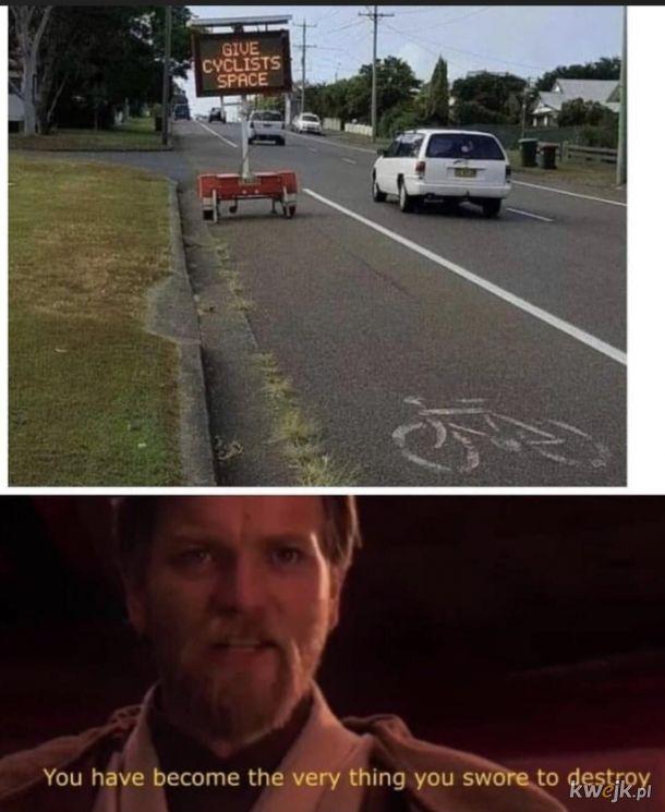 Zrób miejsce dla rowerzystów...