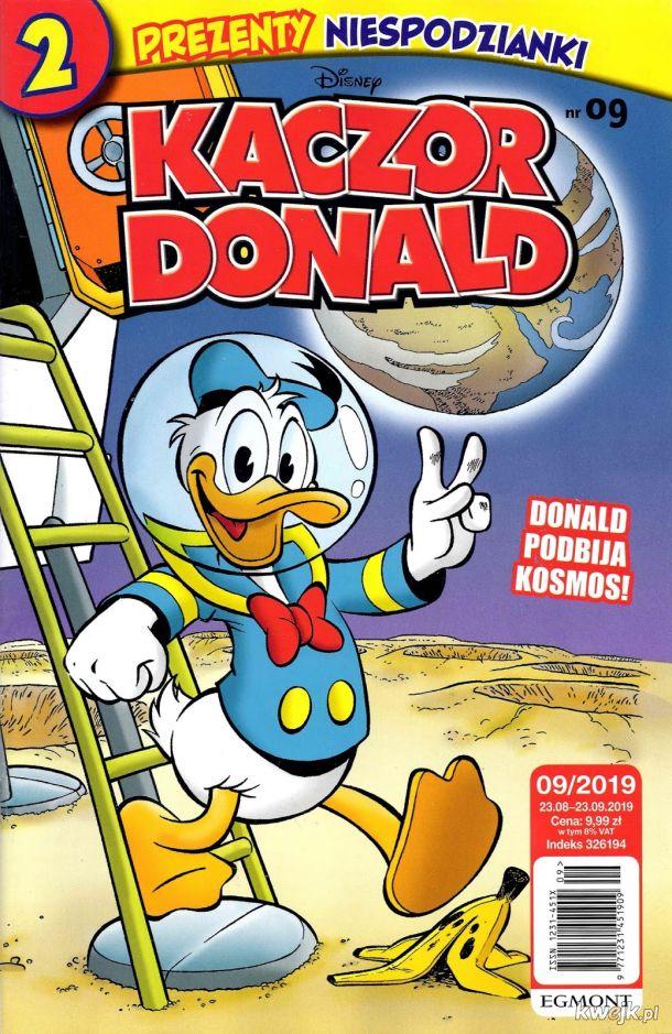 """Już w sprzedaży najnowszy numer Kaczora Donalda (2019/09). W środku aż 43 strony komiksów w tym komiks Dona Rosy ,,Architekt krajobrazu"""" ."""