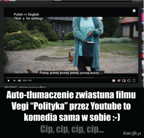 Auto-tłumaczenie Youtube :-)
