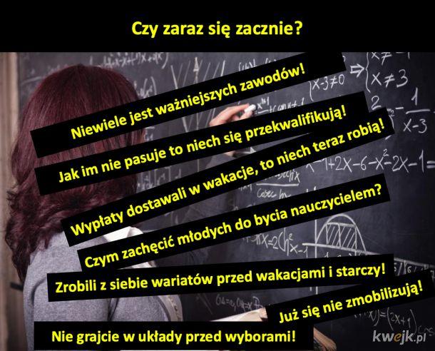 Jeden z bardziej dzielących Polaków temat: praca nauczycieli.