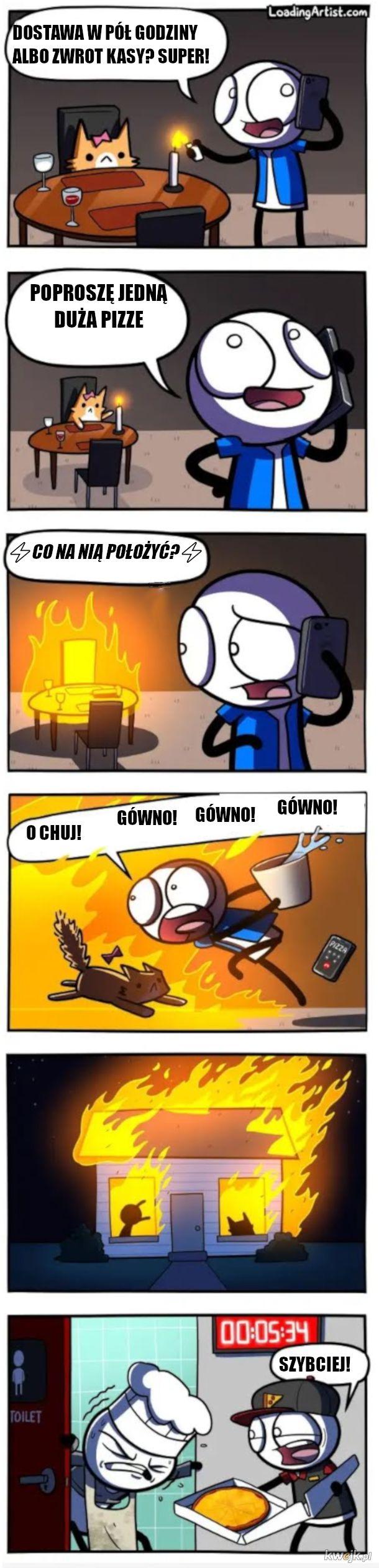Komiks o pizzy