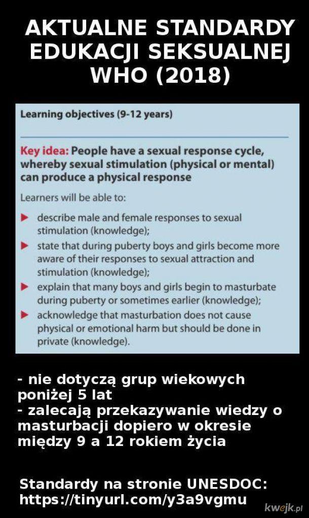 Standardy edukacji seksualnej WHO (2018)