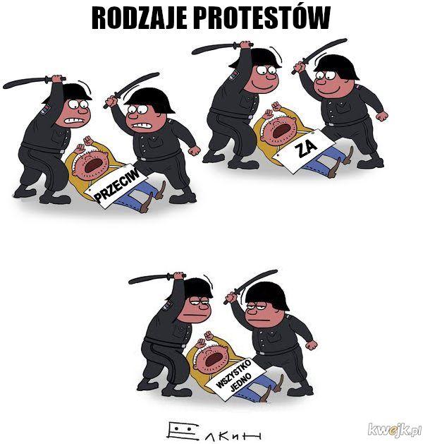 Protesty bywają tłumione