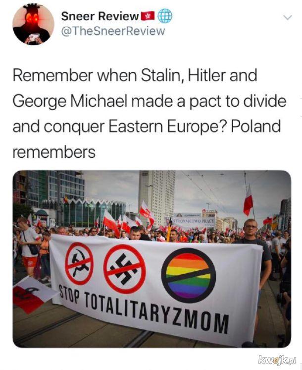 George Michael współuczestnikiem paktu Hitlera i Stalina przeciw Polsce.