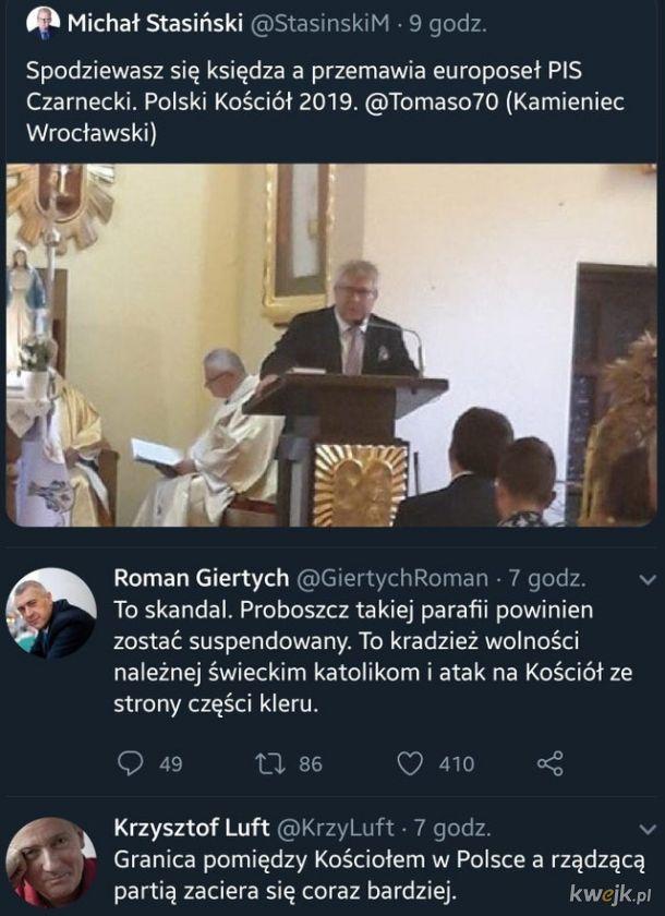 Poseł na mszy