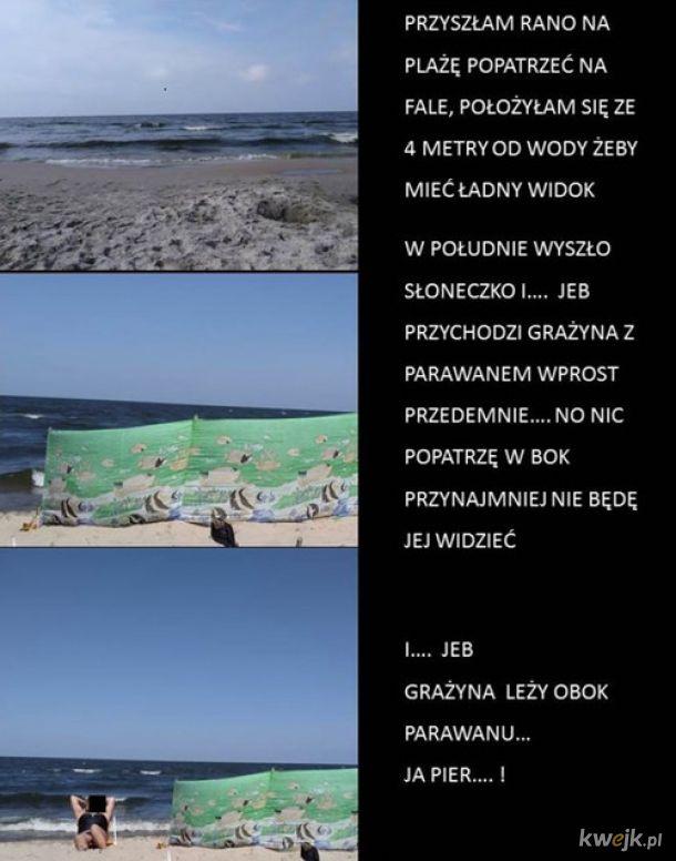 Uważajcie na Grażyny I Januszy parawaningu