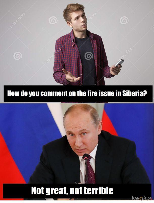 Pożar na syberii