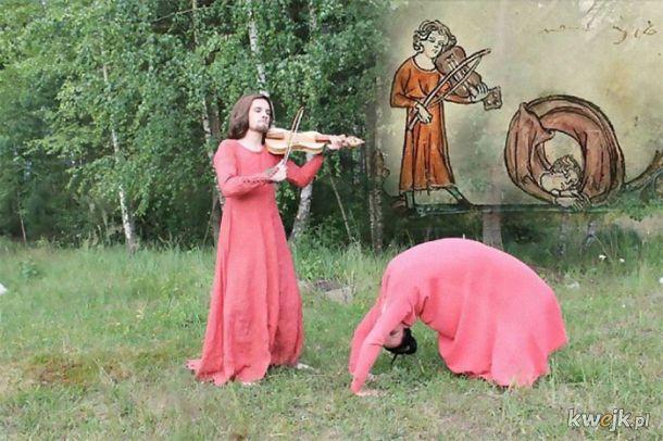 Studenci z Czech odtwarzają dziwne sceny ze średniowiecznych rycin
