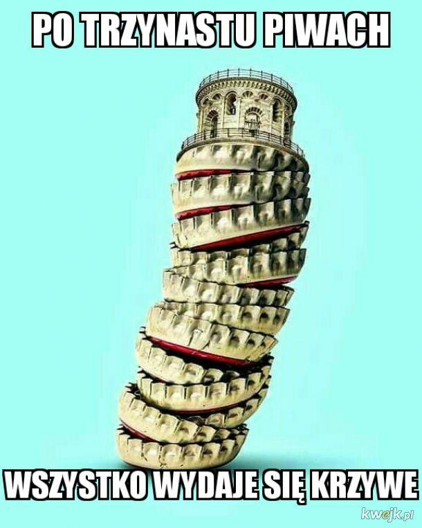 Krzywa wieża w Piwie