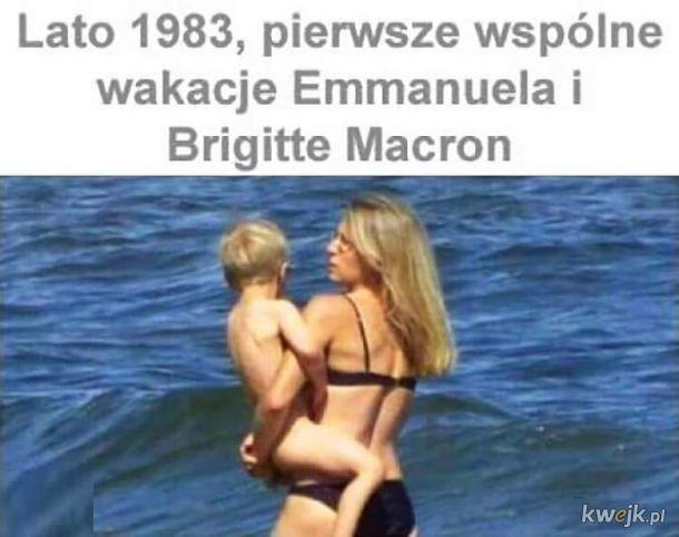 Macron 1983 , koloryzowane