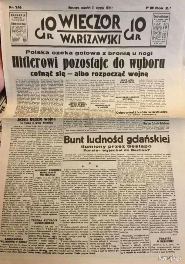 Wieczór warszawski w przeddzień wybuchu II WŚ