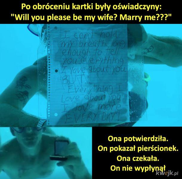 Podwodne zaręczyny bez happy endu