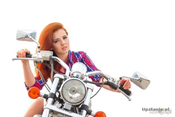 Ruda na motocyklu