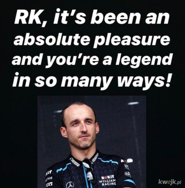 Russell dziękuje Kubicy