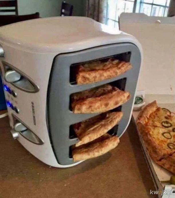 Ludzie nazywają mnie dziwnym, że podgrzewam moją pizzę w tosterze na boku.