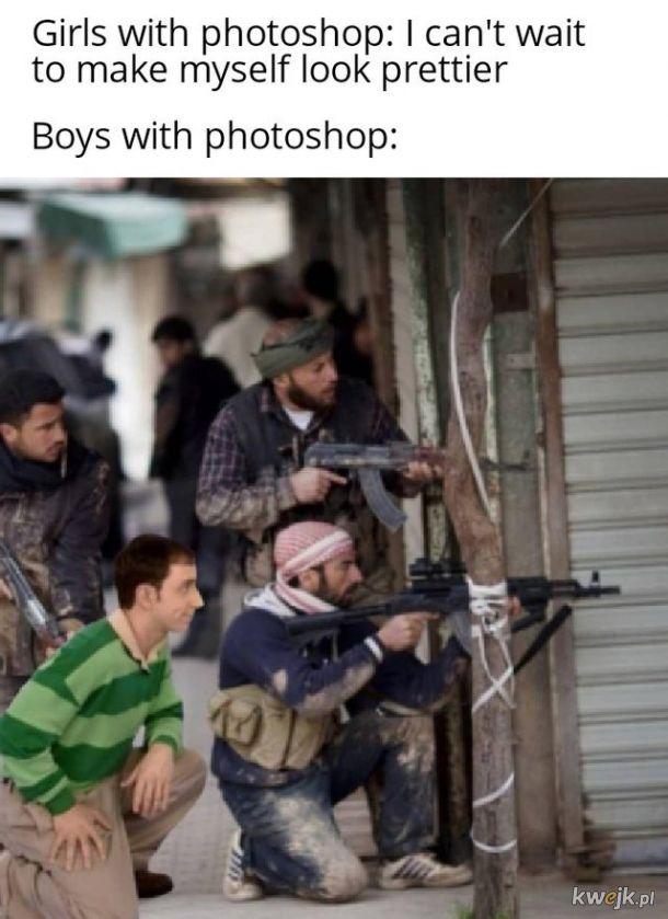 Chłopacy i fotoszop