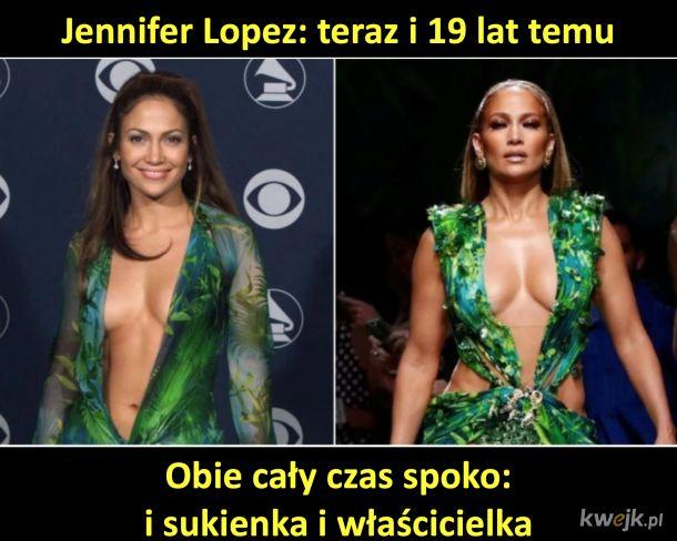 Jennifer Lopez i jej 19-letnia sukienka - jak chcecie to hejtujcie. Dla mnie czad.