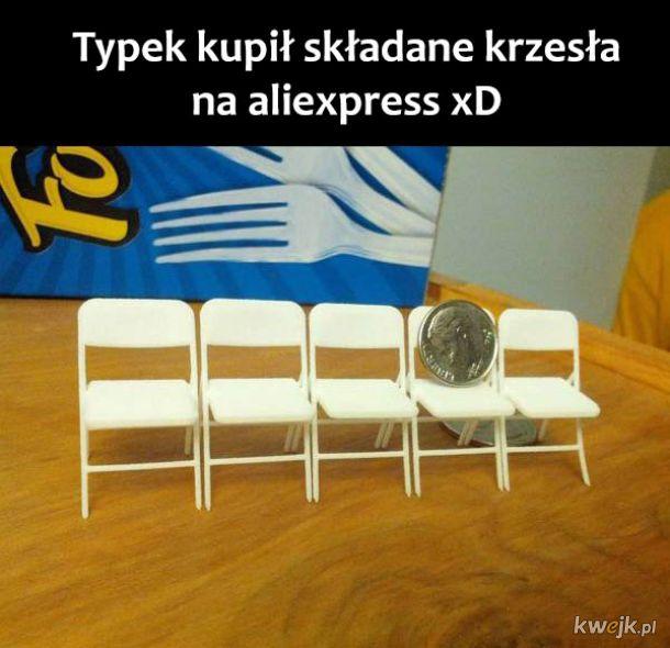 Krzesła z ali