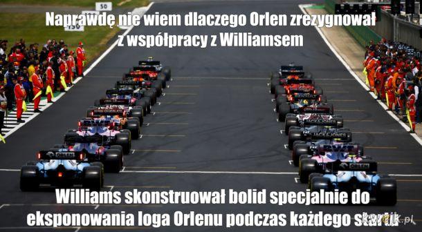 Dlaczego Orlen zrezygnował z Williamsa?
