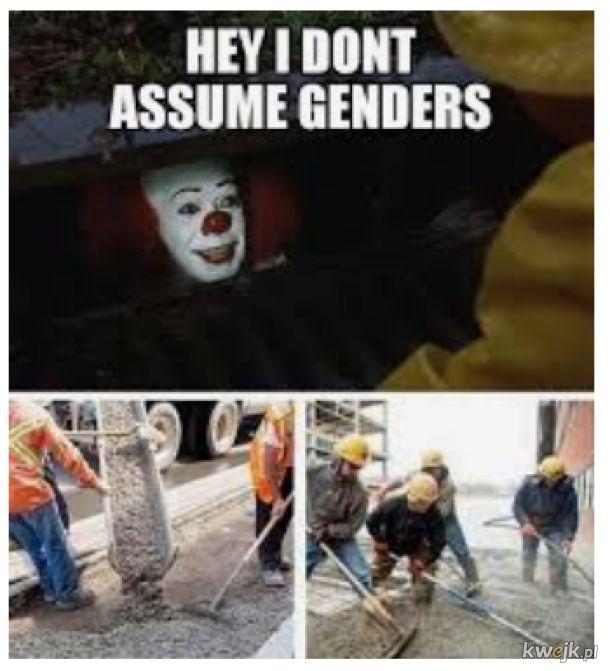 Hej, nie sugeruję płci