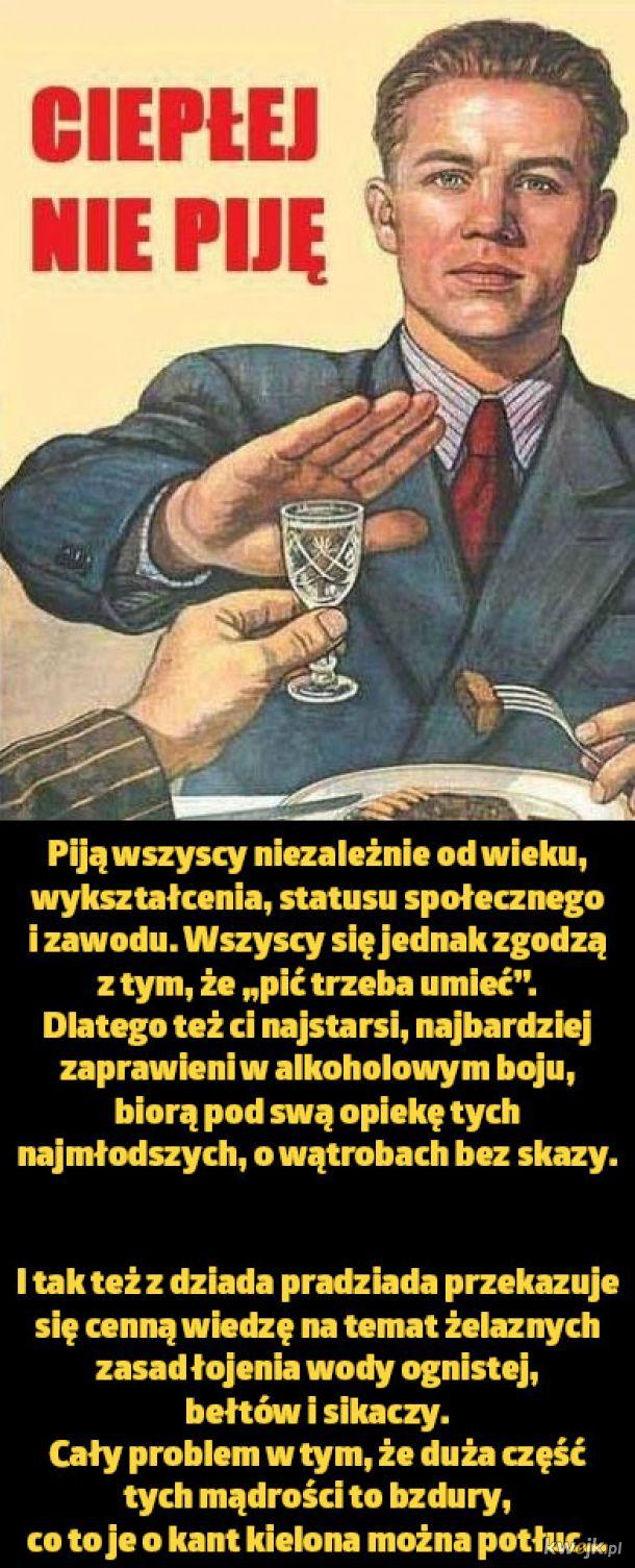 Głupie mity o picia alkoholu