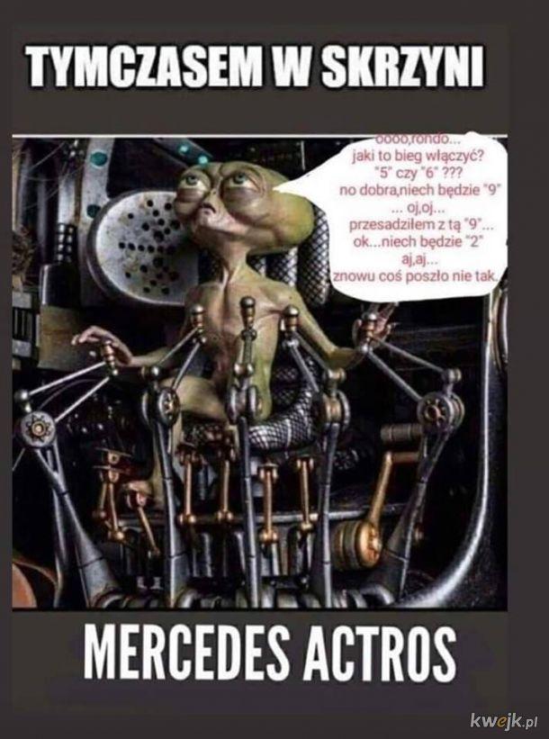 Skrzynia biegów w Mercedesie