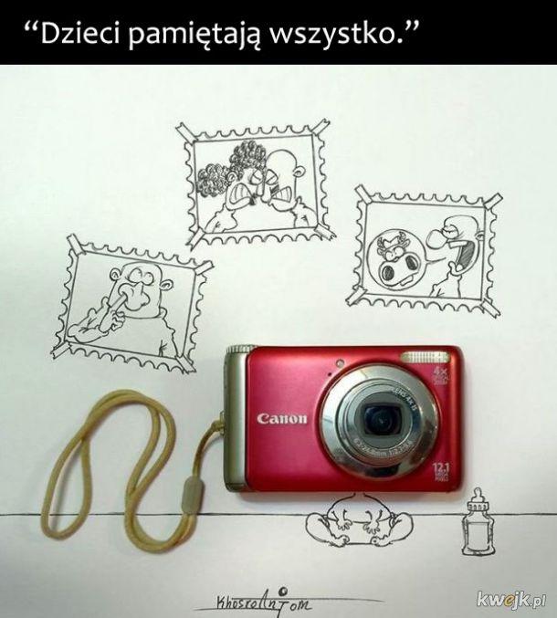Irański rysownik genialnie opisuje świat przy użyciu kilku kresek i przedmiotów codziennego użytku