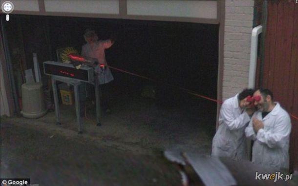 Dziwne sytuacje uchwycone w Google StreetView