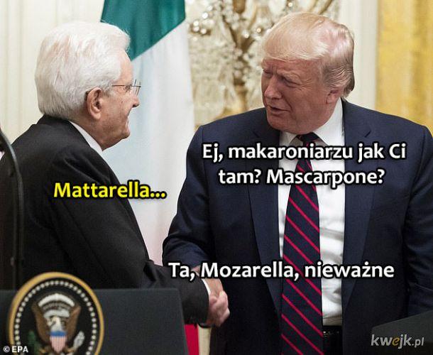 Spotkanie Trumpa z Prezydentem Włoch
