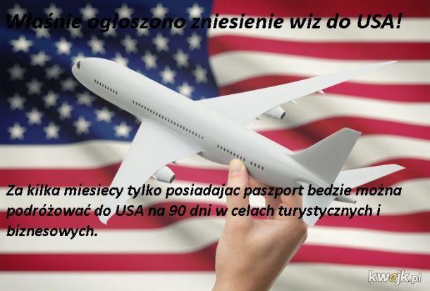Zniesienie wiz do USA!