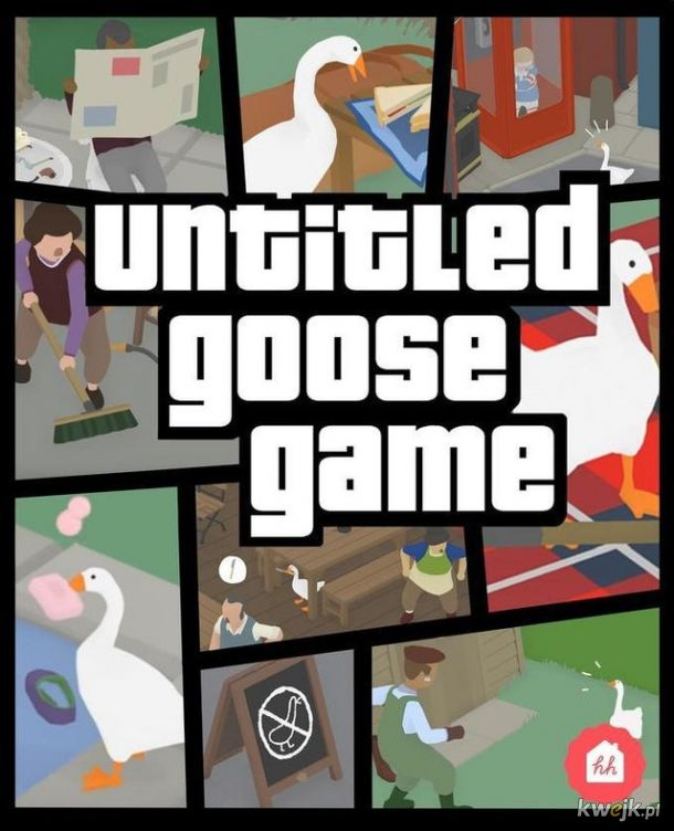 Memy z wiralową grą Untitled Goose Game