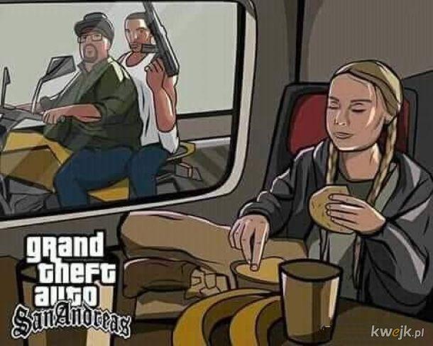 Greta Theft Auto