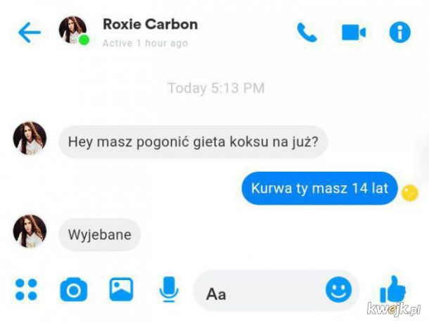 No ładnie Roksana Węgiel