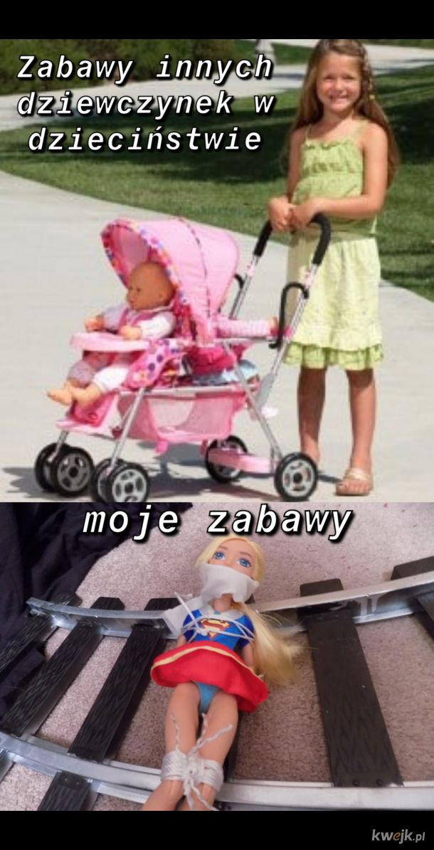 Zabawy dziewczynek w dzieciństwie