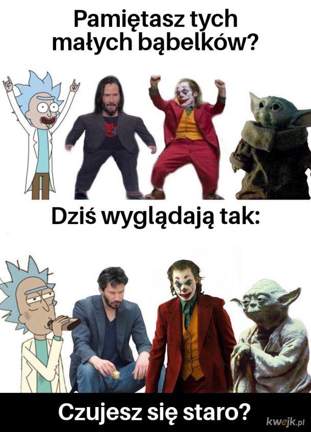 Rick, Keanu, Joker, Yoda - kiedyś vs dziś