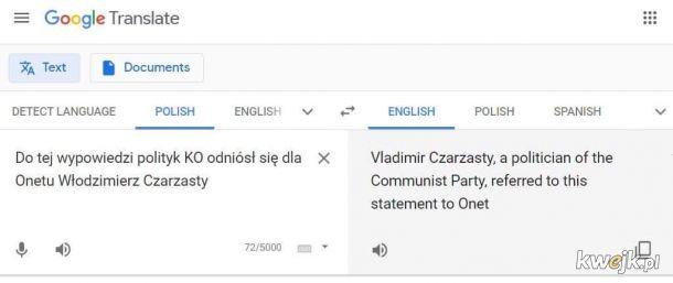 Google demaskuje Czarzastego