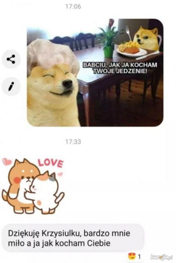 Kiedy wysyłasz babci mema