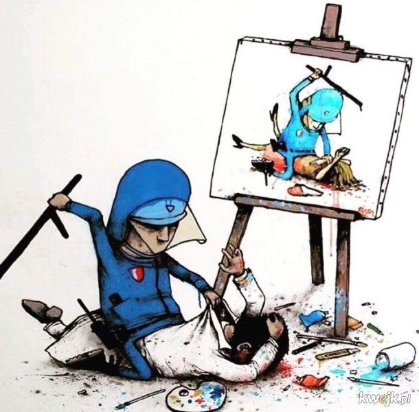 Pałowanie malarza