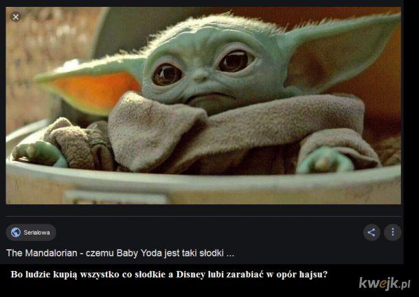 Baby Yoda jest słodki bo ma się sprzedać i tyle
