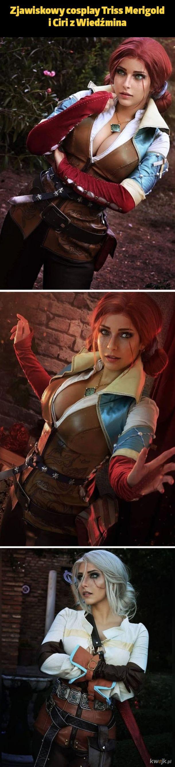 Zjawiskowy cosplay Triss Merigold i Ciri z Wiedźmina