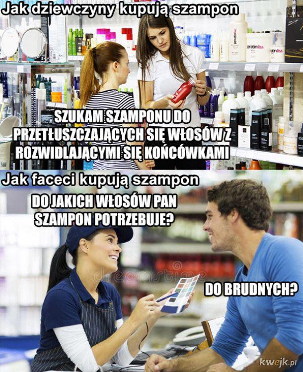 Kupowanie szamponu