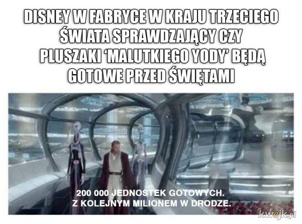 Disney i pluszowy baby Yoda