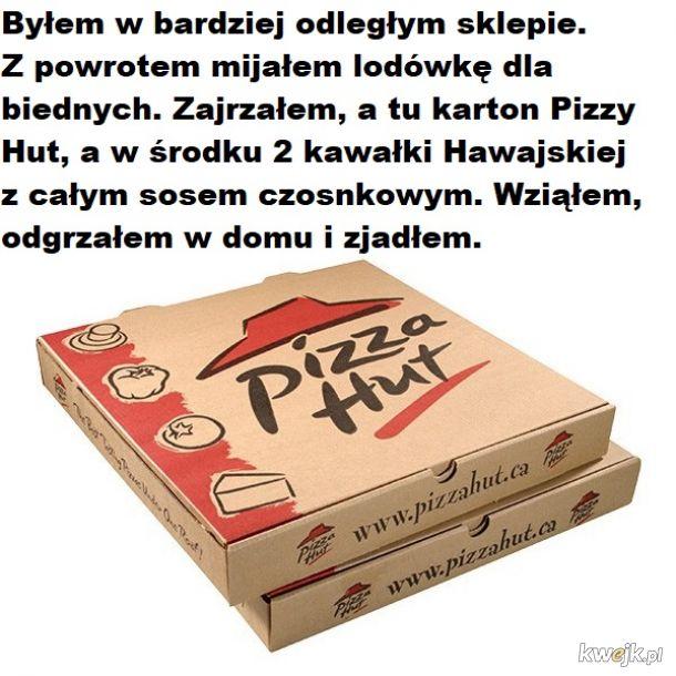 Dziękuję właścicielowi pizzy