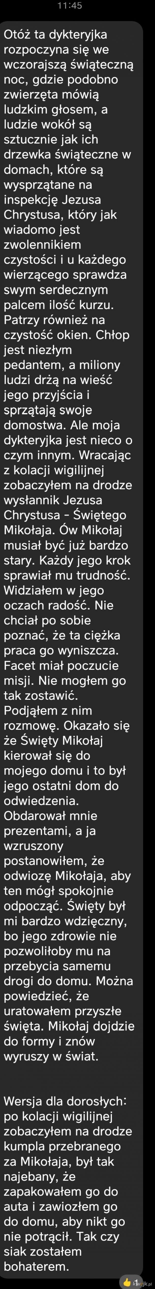 Opowieść wigilijna - wersja polska