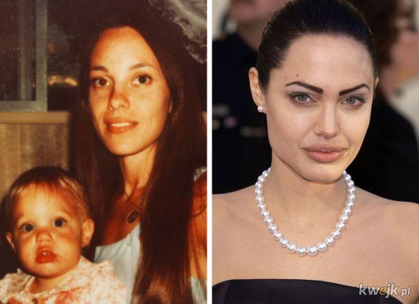 Porównanie zdjęć dzieci i rodziców w tym samym wieku